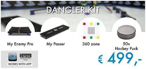 Dangler Kit - My Enemy Pro + My Passer + 360 Zone + 50 Hockey Pucks