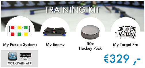 Training Kit - My Puzzle System +My Enemy +50 Hockey Pucks + My Target Pro