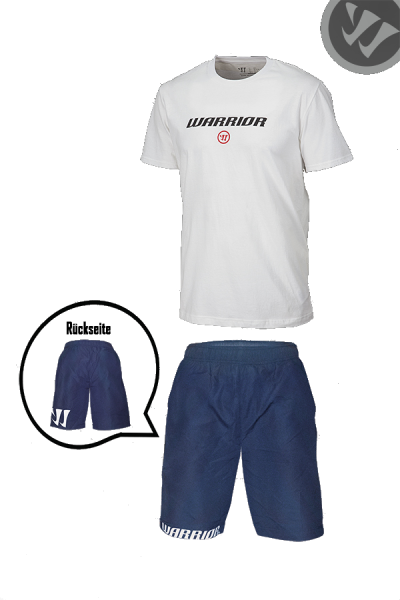 Warrior Kids Set Gr. XSB - T-Shirt (navy), Hose (navy)