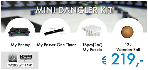 Mini Dangler Kit - My Enemy + My Passer One Timer + My Puzzle 18 + 12 Holzbälle